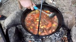 Блюда в казане: жаркое из лосятины