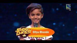 A SPECIAL VIDEO TO DEDICATE DITYA   SUPER DANCER WINNER DITYA BHANDE   Krishanu Dey Films