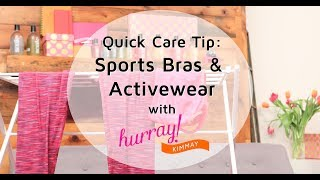 How to Wash Sports Bras and Activewear - Quick Care Tip with Hurray Kimmay