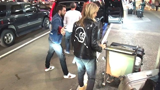 Aaron Taylor-Johnson And Much Older Wife Sam Touch Down At LAX
