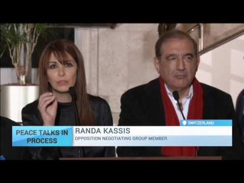 Peace Talks in Progress: Syrian peace talks in Geneva: Government delegates arrive to discuss crisis