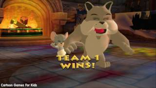 Tom and Jerry Cartoon Games - War of the Whiskers - Team Spike, Nibbles/Tuffy Vs Team Tom, Butch