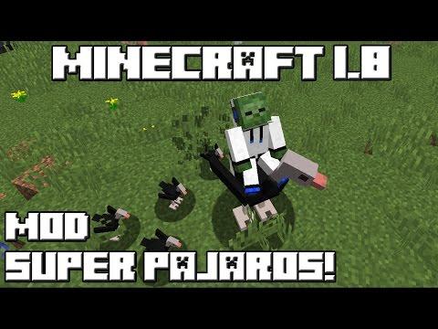 Minecraft 1.8 MOD SUPER PAJAROS!