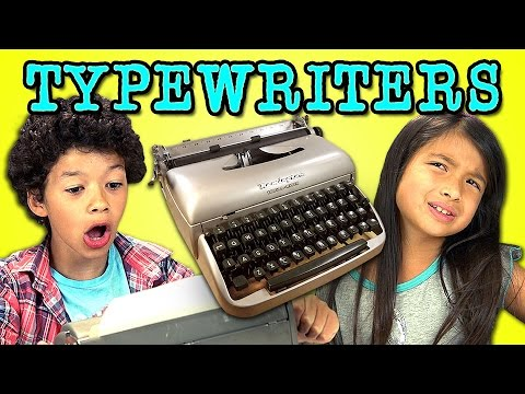 Kids React To Typewriters video