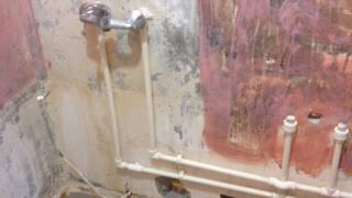 Разводка сантехники в ванной комнате