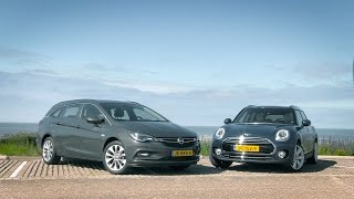ANWB dubbeltest Mini Clubman versus Opel Astra Sports Tourer 2016