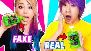 REAL SLIME VS FAKE SLIME CHALLENGE!