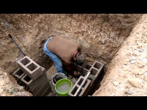 building a septic system at Cherut Farm