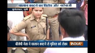 High drama at Bulandshahr after BJP workers clash with police over Traffic Fines