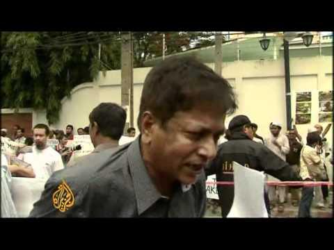 Muslim Rohingya protest in Bangkok