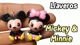 Mickey and Minnie Polymer Clay Tutorial | Llaveros | Porcelana Fria