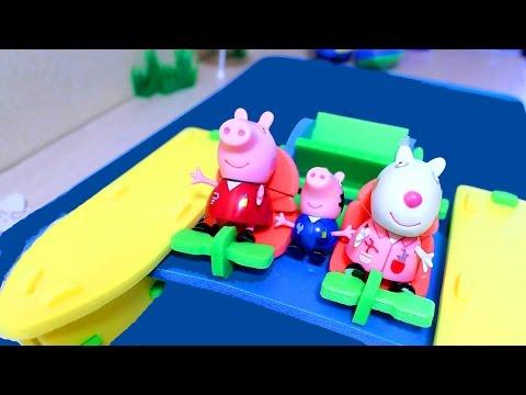 Свинка Пеппа  Мультфильм из игрушек. Катамаран для Пеппы. Cartoons