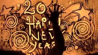 Happy 2014 ! Sand animation di Paola Saracini
