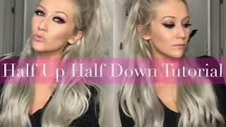 Half Up Half Down with Clip-In Hair Extensions - LUXURY FOR PRINCESS
