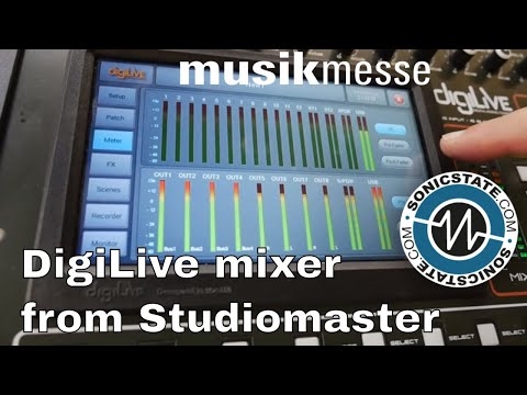 MESSE 2018:  Studiomaster DigiLive Mixer (can run apps too!)