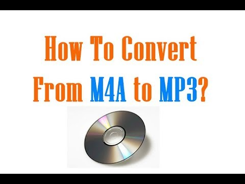 How to Convert m4a to mp3 using Freeware?
