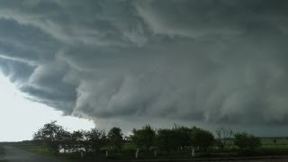 Hurricane and hail storm in Poland 20.05.2013
