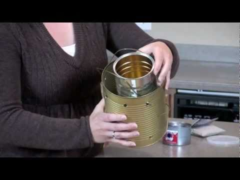 Powerless Cooking Class:  #10 Can Stove