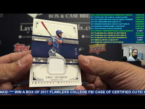 2017 Panini National Treasures Baseball 4 Box Case Break #27 RT
