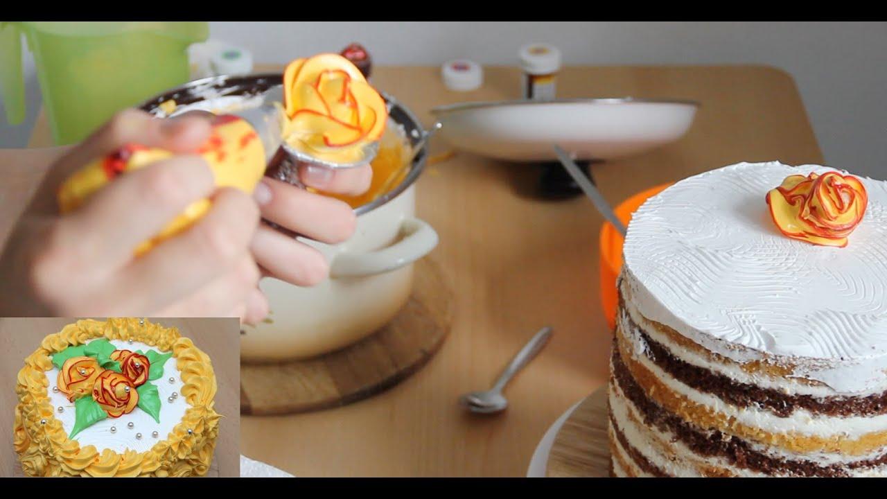 Как из крема белково заварного сделать розы