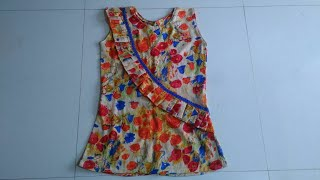 Beautiful baby top from old kurti DIY| baby top cutting and stitching