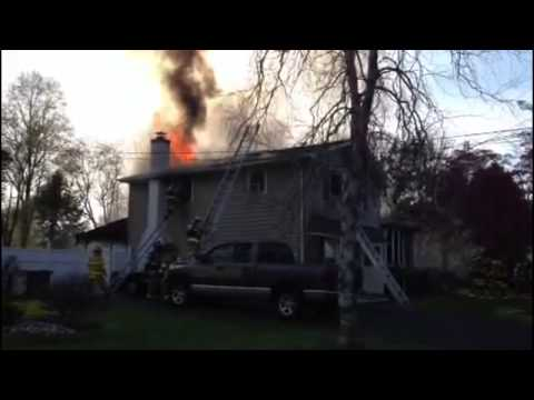 Warminster Twp Bucks County House Fire 4/21/13