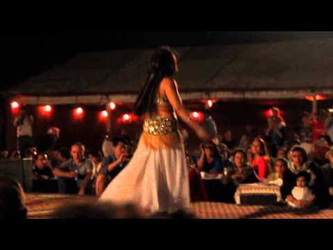 Sexy Arab Girl Belly Dancing On Arabic Song At Desert Safari video