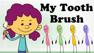 My Tooth Brush | Classic Kids English Nursery Rhymes | 2D Animated Songs For Children