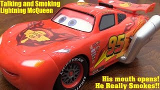 Lightning McQueen Talks and Smokes! Disney Pixar Cars U-Command RC Toy Car Review