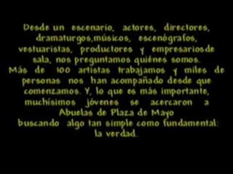 Teatro x la Identidad Zona Sur - 2006