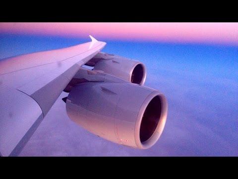 Shanghai - Frankfurt Lufthansa Airbus A380-800 Empty Sunset Flight (D-AIMJ)