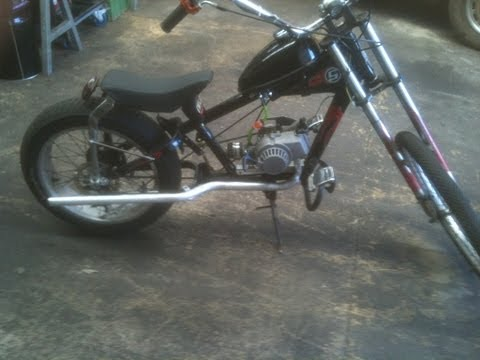 schwinn stingray chopper motor bike all running