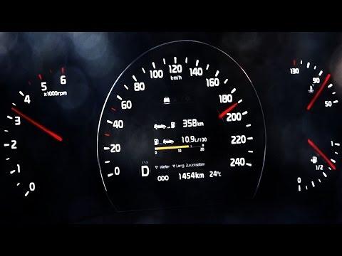 Kia Sorento 2.2 CRDi Acceleration 0-100 top speed test