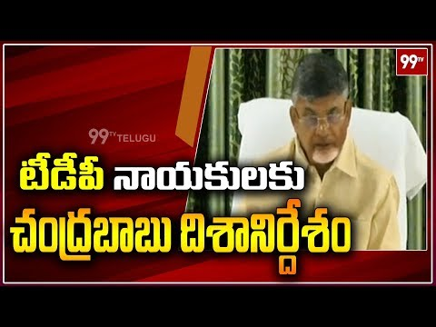 Chandrababu Naidu to Hold TDP Coordination Committee Meeting in Amravati | AP Politics | 99TV Telugu