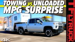 How Efficient Is the New Chevy Silverado HD Gasser? Hint: There's a HUGE Difference Towing & Not!
