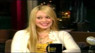 Hilary Duff - Interview On Late Show With David Letterman 2004 - HD