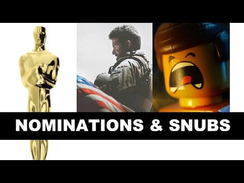 Oscars 2015 Nominations & Snubs! The Lego Movie! American Sniper! - Beyond The Trailer
