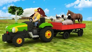 Learning farm animals names and sound for children