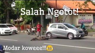Viral!!! Kecelakaan di pekalongan, Salah tapi marah marah ngotot!! malah nantangin yang di srempet