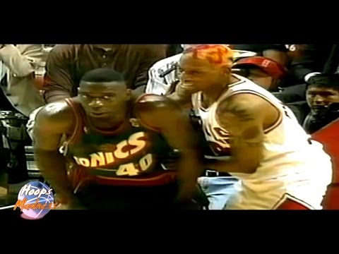 Shawn Kemp Gets in Trouble With Dennis Rodman ('96 Finals Game 1)