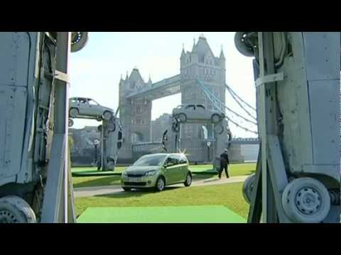 A Stonehenge made with cars for London