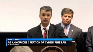 WSFA 12 News Report on Launch of Cybercrime Lab by Attorney General Steve Marshall