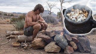 Primitive Popcorn & Eggs Breakfast in Chilly Desert