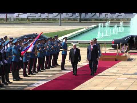 Palestinian President Abbas Arrives in Belgrade, Serbia