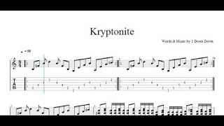 kryptonite 3 Doors Down Guitar Tab Lesson
