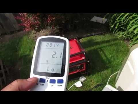 Weanas plug power meter / usage monitor tested on generator