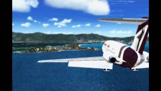 FS2004 - SVMI to TNCM with Douglas DC-9-15 Aserca Airlines - (HD)