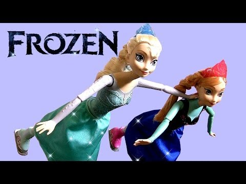 Disney Frozen Ice Skating Elsa Doll & Ice Skating Princess Anna Doll Review by Disneycollector