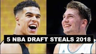5 Biggest Steals In The 2018 NBA Draft