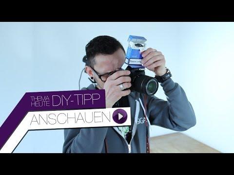 DIY-Tipp - selbstgemachter Blitz-Diffusor mit Zigarettenschachtel